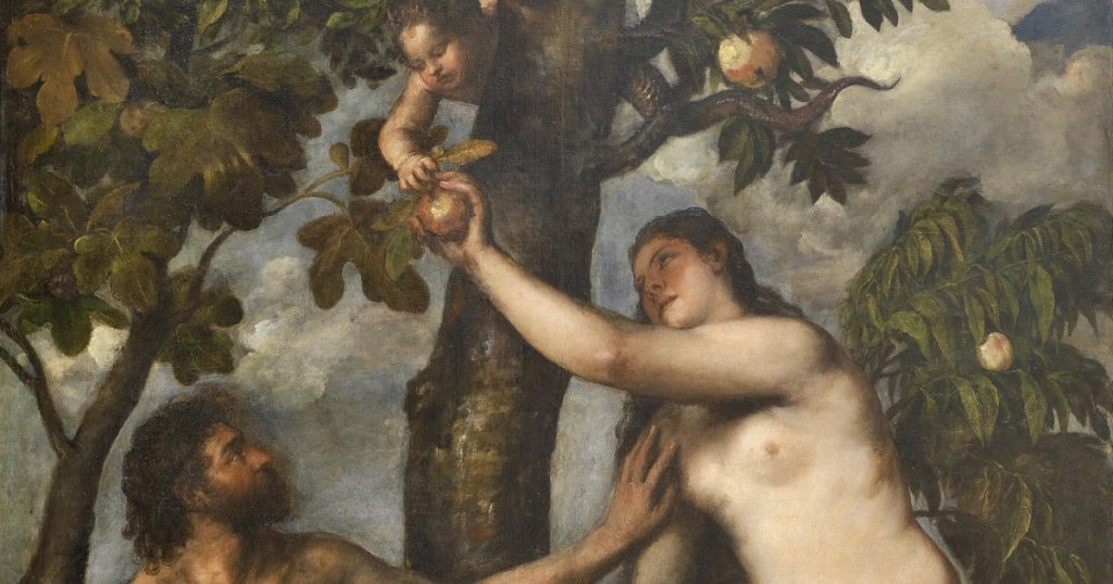 adam and eve with the apple