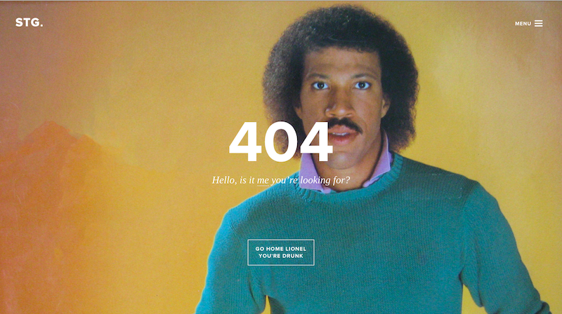 funny error 404 page as a web design trend